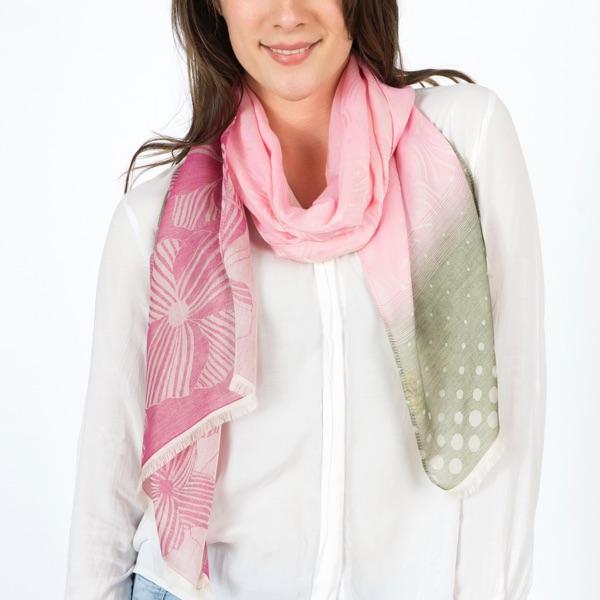 foulard pour femme coton et soie