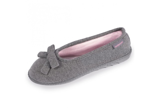 chaussons-ballerines-femme-isotoner-93313-gris-1